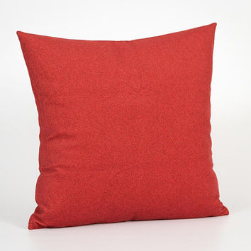 Red Pillow Cover 18 x 18. Red Cushion Cover. Red Home Decor. Accent Throw Pillow Cover. Bright Pillow Case. Red Decorative Pillow for Couch