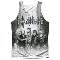 DEF LEPPARD/THE BAND-ADULT 100% POLY TANK TOP-WHITE