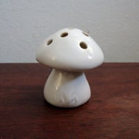 vintage all white porcelain flower frog by valeriesvintagehome