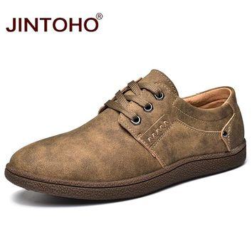 JINTOHO Brand Loafers Genuine Leather Mens Fashion Shoes Luxury Brand Men Casual Shoes Male Designer Shoes Leather Moccasins Men