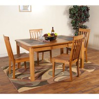 Sunny Designs Dining Room Sedona Extension Table With Slate 1273RO