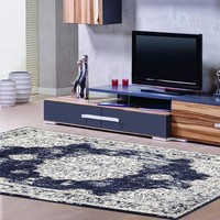 4768 Navy Distressed Oriental Area Rugs