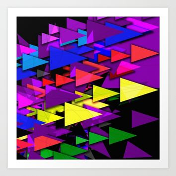 Triangle Art Deco Art Print by Gift Of Signs