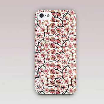 Indian Floral Phone Case For - iPhone 6 Case - iPhone 5 Case - iPhone 4 Case - Samsung S4 Case