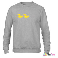 duck duck grey duck_ Crewneck sweatshirtt