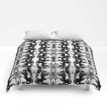 Tie-Dye Blacks & Whites Comforters by ninamay