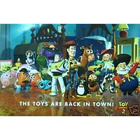 Disney - TOY Story 2 Cast Poster Buzz Lightyear Pixar