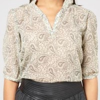 sheer paisley Ashbury top