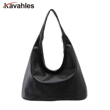 Brand 2018 New Women Shoulder Bags Hobos Designer Handbags For Women Black PU Leather Bags Ladies Messenger Bags Bolso G40-738