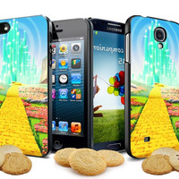 yellow brick wizard of OZ disney films iPhone Case and Samsung Galaxy Case