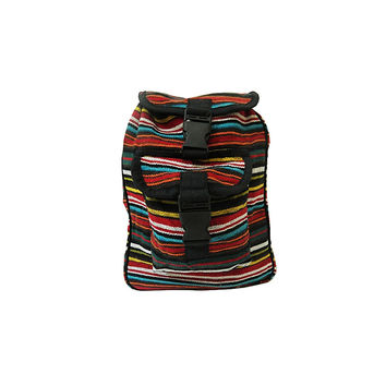 WillaRue Striped Traveler Multi Bright Earth with Black