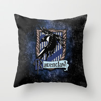 Harry potter Ravenclaw team flag emblem Throw Pillow case by Three Second