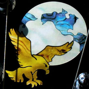 Jerry Garcia's Eagle-Earth Grateful Dead Inlay Stickers Decals Headstock