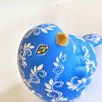 Hand painted Blue Bird ceramic figurine Bluebird