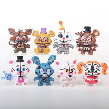 Newest 8pcs/lot  At  Sister Location  Funtime Foxy Ballora Puppet Nightmare Freddy PVC Figures 6CM
