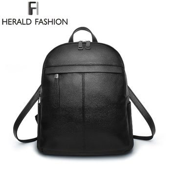 Herald Fashion Solid Women Backpacks New Brand Casual School Backpack For Teenagers Girls Large Capacity Leisure Women Purse