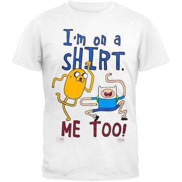 DCCKIS3 Adventure Time - I'm On A Shirt White T-Shirt