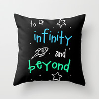 To Infinity Throw Pillow by LookHUMAN