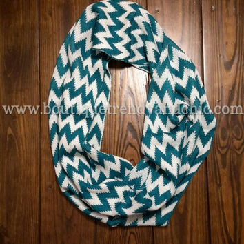 COLOR BLOCK CHEVRON INFINITY SCARF
