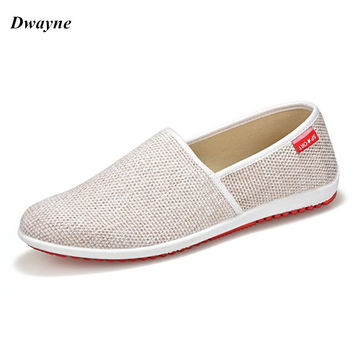 2017 Summer Mens Loafers Casual Flat Shoes Knitted Woven Shoes Breatbale Natural Male Convenient Driving Shoes Flats Big Size 44