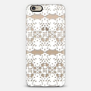 LACE ME - CRYSTAL CLEAR PHONE CASE iPhone 6 case by Nika Martinez | Casetify