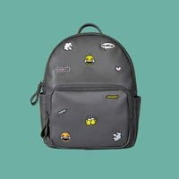 Cry With Joy PU Leather Backpack