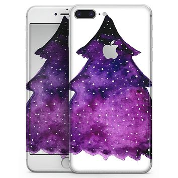Purple Watercolor Evergreen Tree - Skin-kit for the iPhone 8 or 8 Plus