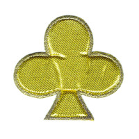 Gold Poker Clubs Puffy Patch