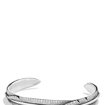 Men's David Yurman 'Frontier' Feather Wrap Cuff Bracelet