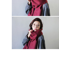 Simple Colored Soft Scarf