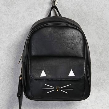 Cat Face Mini Backpack
