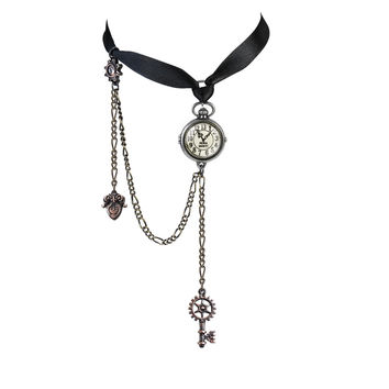 Alchemy Gothic Uncle Albert's Timepiece Choker Necklace Alice in Wonderland