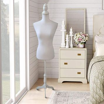 Female Solid White Mannequin by The Urban Port