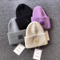 Acne Woman Men Fashion Beanies Winter Knit Hat Cap