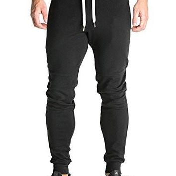 Ouber Men's Fitted Shorts Bodybuilding Workout Gym Running Jogger Pants
