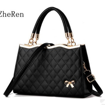 Zhe Ren Arc High Quality Women Bag Brand Leather Evening Party crossbody Purse totes Bag Shoulder Trellis Soft Leather Women SAC