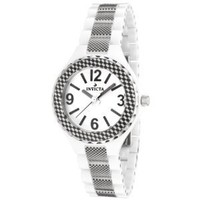 Invicta Women's 1158 Ceramics Collection White Dial Ceramic Watch