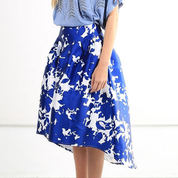 PERFECT FLAIR HIGH-LOW SKIRT