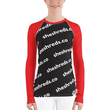 Kyla Rash Guard - SheShreds.co Graphic Red