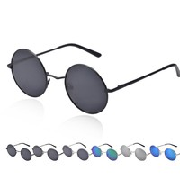 Personality Men Women Round Mirrored Sunglasses Eyewear Glasses For  Activities Feel Cozy