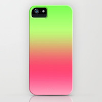 Watermelon Pink Green Gradient iPhone Case by xjen94 | Society6
