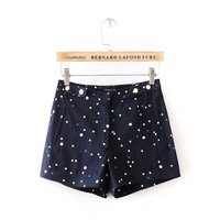Summer Slim Round-neck Pants Casual Shorts [4917837252]