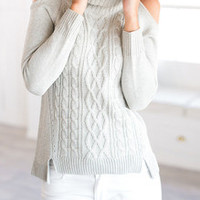 Open Shoulder Sweater Fall Winter Fashion Sweater