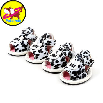 2017 petcircle new arrival pet dog shoes summer leopard dog shoes for chihuahua yorkshire skidproof dog shoes pet products