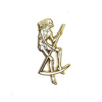 Gold Sythe Enamel Pin