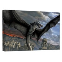 Lord Of The Rings - Fellbeast Canvas Wall Art With Back Board