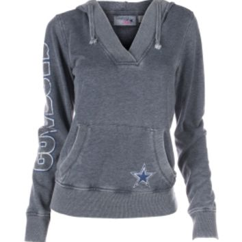Dallas Cowboys Merchandising Women's Dallas Cowboys Magnolia V-Neck Hoodie - Dick's Sporting Goods