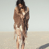 Suede Thunderbird Shawl – Taupe « Spell & the Gypsy Collective.