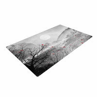 "Viviana Gonzalez ""The Red Sounds And Poems, Chap"" Gray Black Woven Area Rug"