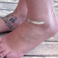 Hollow Out Leaf Anklet